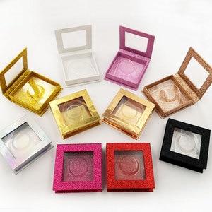 Image 4 - 20pcs wholesale false eyelashes packaging box fake 3d mink lashes boxes faux cils strip diamond magnetic case empty