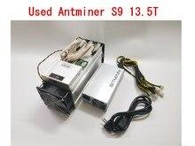 Expédier dans les 24 heures Utilisé AntMiner S9 13.5TH/S AVEC PSU Bitcoin BCH BTC Miner Mieux que S9 13.5T 14T S9j 14.5T S9 SE S11 S15 S17