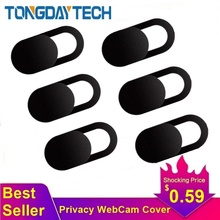 Tongdaytech WebCam cubierta imán de obturador deslizante plástico Universal antiespía cubierta de la cámara para el ordenador portátil iPad PC Macbook pegatina de privacidad