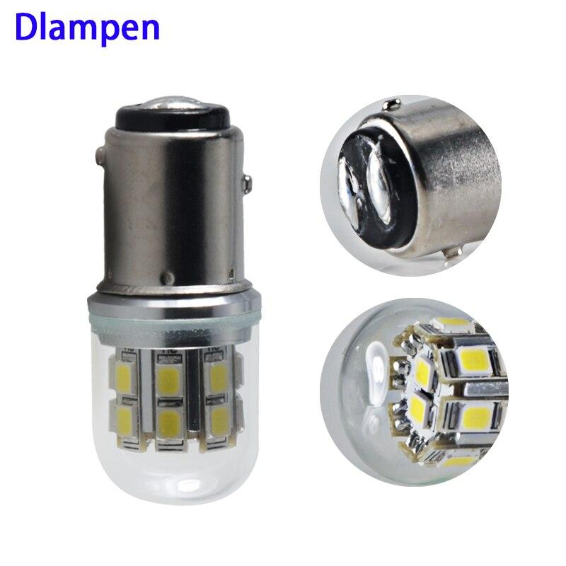 Bay15d P21 5w 1157 6V 12V Led Glass Bulb Super 3W Auto Brake Lights Fog Lamp Tail Turn Signals Light 6 12 V Volts Energy Saving