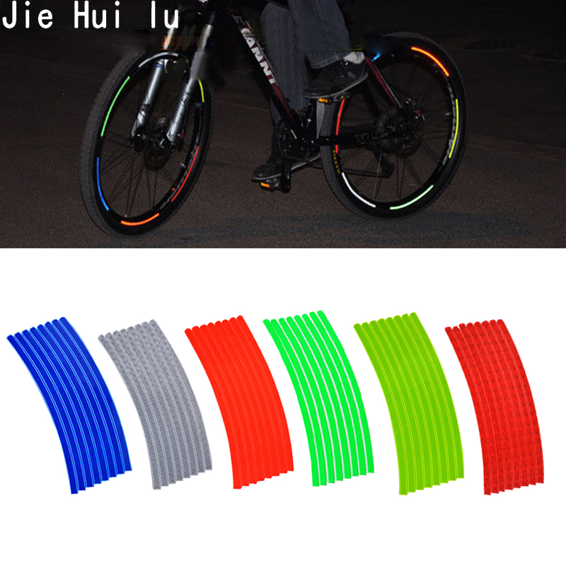 Rapid Reflect 12Pcs Light Wheel Clip Tube Light Cycling Bicycle Safety Warning