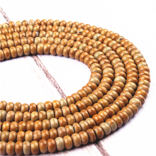 Wood Jade  Natural Agate Gem 4X6MM5X8MM Abacus Bead Spacer Bead Wheel Bead Accessory For Jewelry Making Diy Bracelet Necklace