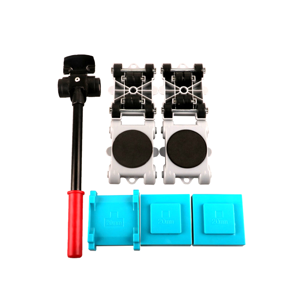 8pcs Furniture Mover Tool Heavy Stuffs Easy Moving Roller Set Home Transport Lifter Sliders Removable 360 Degree Rotatable