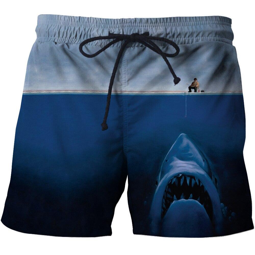 SHUJIN 2020 New Fashion Summer Men Beach Shorts 3D Print Fish Loose Male Bermuda Boardshorts Trousers Hot Style Male Shorts