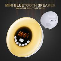 Wireless Bluetooth Speaker Intelligent Audio Desk Lamp LED Music Bluetooth Speaker Colorful Wake Up Atmosphere Light Speaker