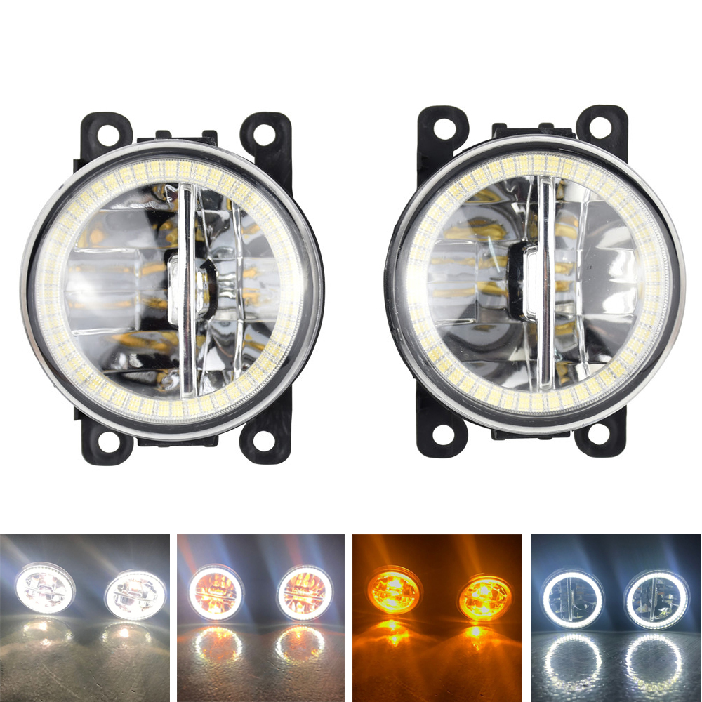 Angel Eyes High Brightness front bumper Car <font><b>Light</b></font> Assembly Fog Lamp For <font><b>Mitsubishi</b></font> <font><b>Outlander</b></font> L200 Pajero Grandis Galant 03-15 . image
