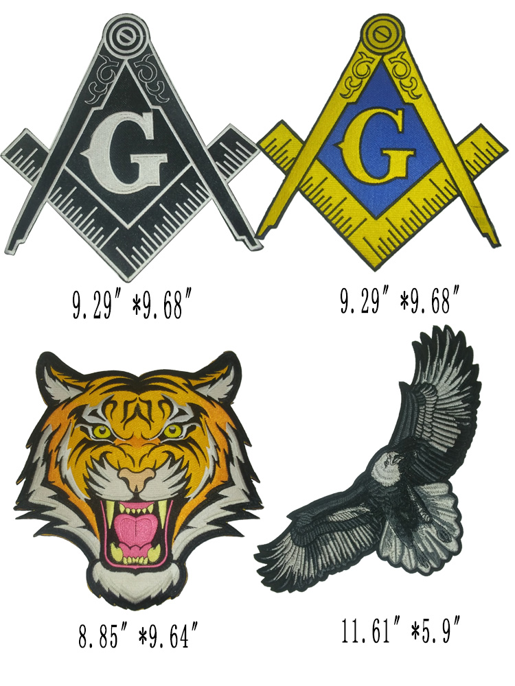 1 Piece Embroidery Fashion Cool Tiger, Eagle Big Patch Applique Patching Clothes Patch Suitable For Clothes Bags, Etc.