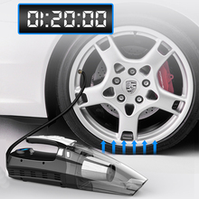 2 Uses Car Vacuum Cleaner + Inflatable Pump with Digital Display Portable Car Dual Use Auto Air Compressor