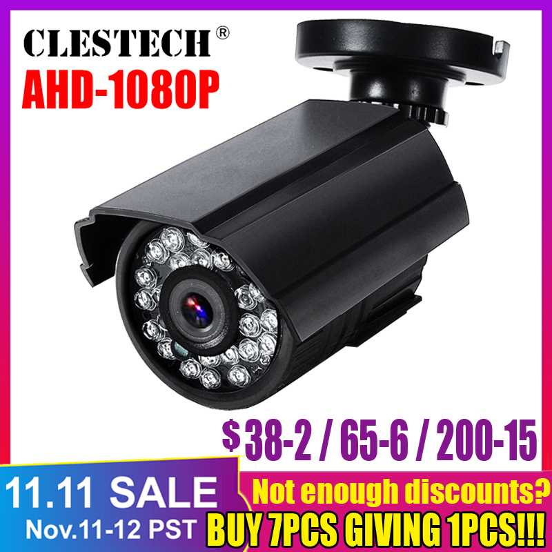 3000TVL Sony Imx323 Full <font><b>AHD</b></font> CCTV <font><b>Mini</b></font> <font><b>Camera</b></font> 720P <font><b>1080P</b></font> HD Digital 2.0MP Waterproof Outdoor Infrared Night Vision with bracket image