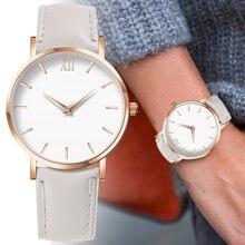 2020 модные простые женские часы Женские повседневные кожаные