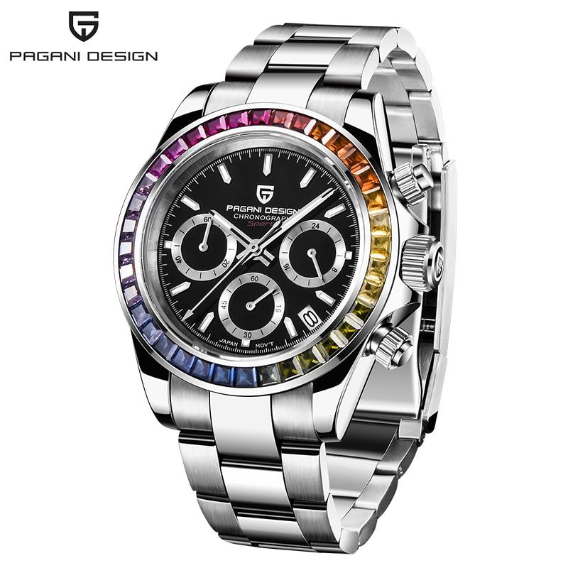 PAGANI Design Mens Chronograph Watch Stylish Sport Quartz Clock Brand Luxury Business Waterproof Watch Relogio Masculino