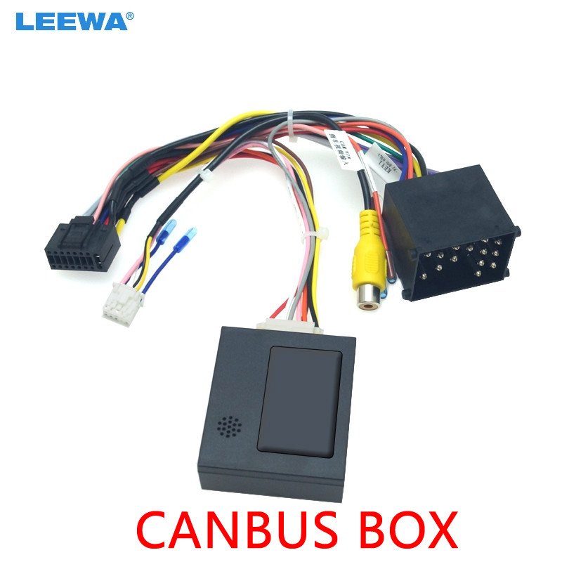 LEEWA Car Stereo Audio 16PIN Android Power Cable Adapter With Canbus Box For BMW E39 98-01 Power Cable Wiring Harness #CA6461