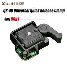 High Quality XILETU QR 40 Universal Aluminium Alloy Quick Release Clamp Q.R. Adapter Plate Tripod DSLR Photography Accessory