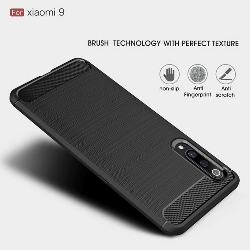 Carbon Fiber Silicone Case For Xiaomi Redmi Note 7 8 6 5 3 K20 Pro 6A 7 7A 9T Mi 8 9 SE A2 A3 Lite Pro Mix 2S Max 2 3 Case Cover