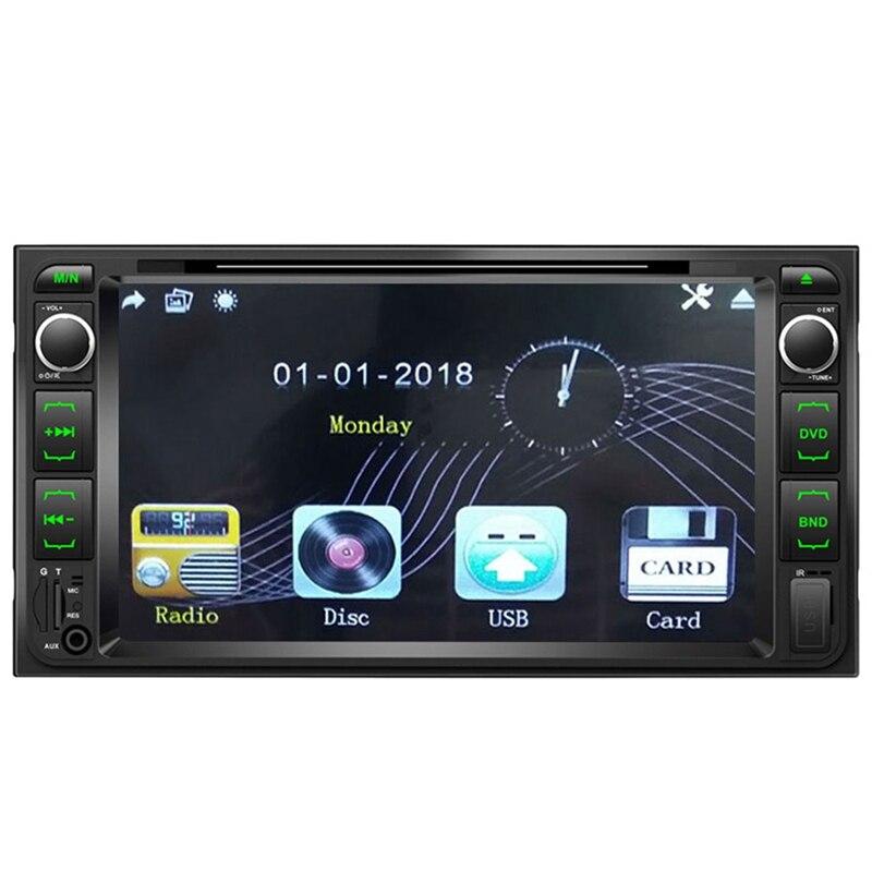 2 Din Car Dvd Player 7 Inch Multimedia Player 2Din Car Radio Bluetooth Usb Mp5 Dvd Fm Player for Toyota Corolla|Car Multimedia Player| |  - title=