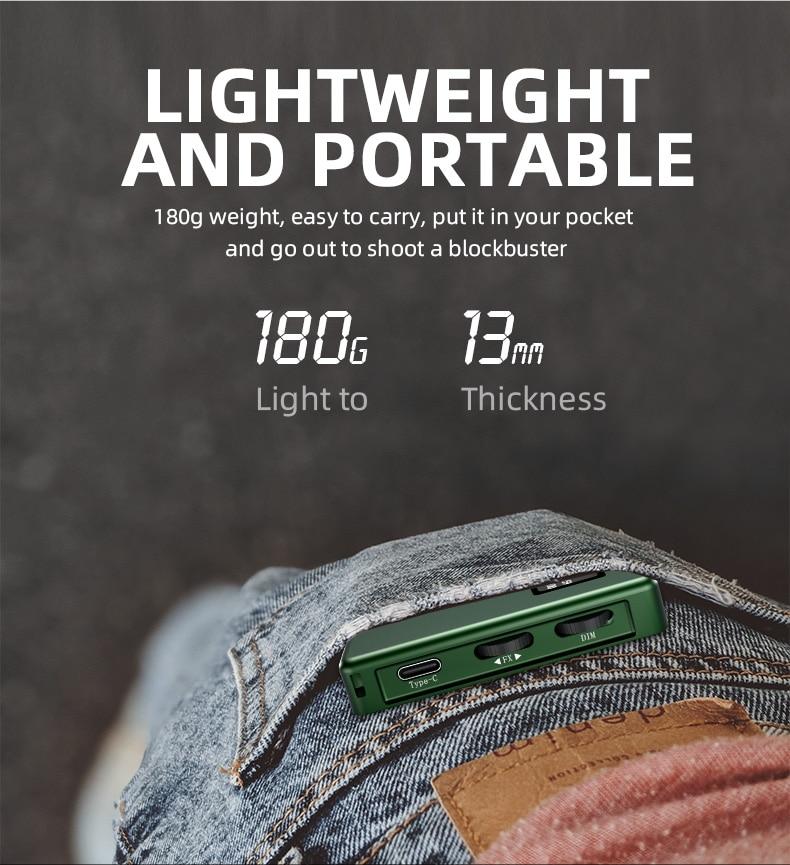 Hc6708297264542ed98b29fd81c4b5ceaC soonpho RGB LED Camera Light Full Color Output Video Light Kit Dimmable 2500K-8500K Bi-Color Panel Light CRI 95+