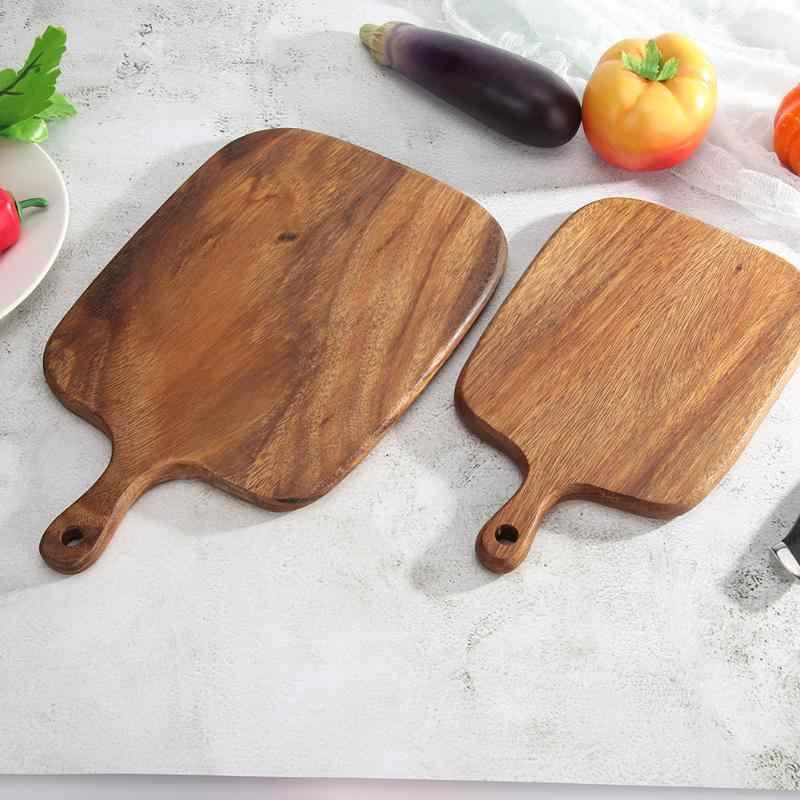 야채 주방 커팅 보드 목재 커팅 보드 부드러운 다기능 실용적인 과일 대나무 음식 스토리지 교수형 나무 Kitche