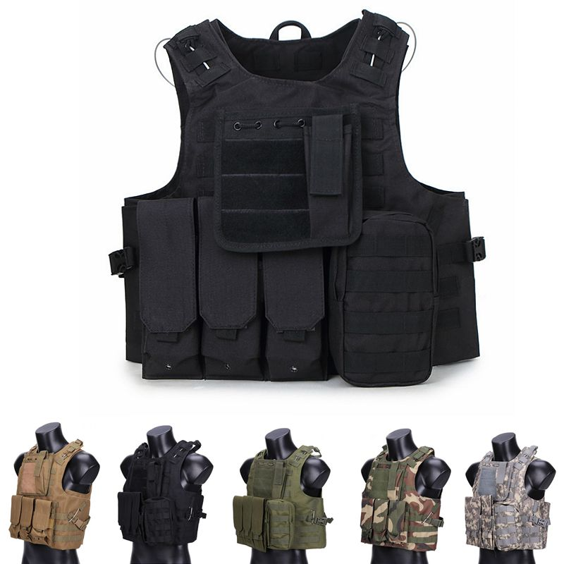 USMC CS Tactical Vest Gear Vest Plate Carrier Airsoft CQC Wargame Military Hunting Clothes Paintball Camouflage Body Armor CP