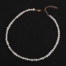 Ожерелье женское с пресноводным жемчугом элегантное колье 18