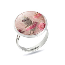 Lovely Hedgehog Rings Hedgehog In The Fog Rings Cute Hedgehog Mini Zoo Animal Jewelry Anillos Wholesale Lots Bulk(China)