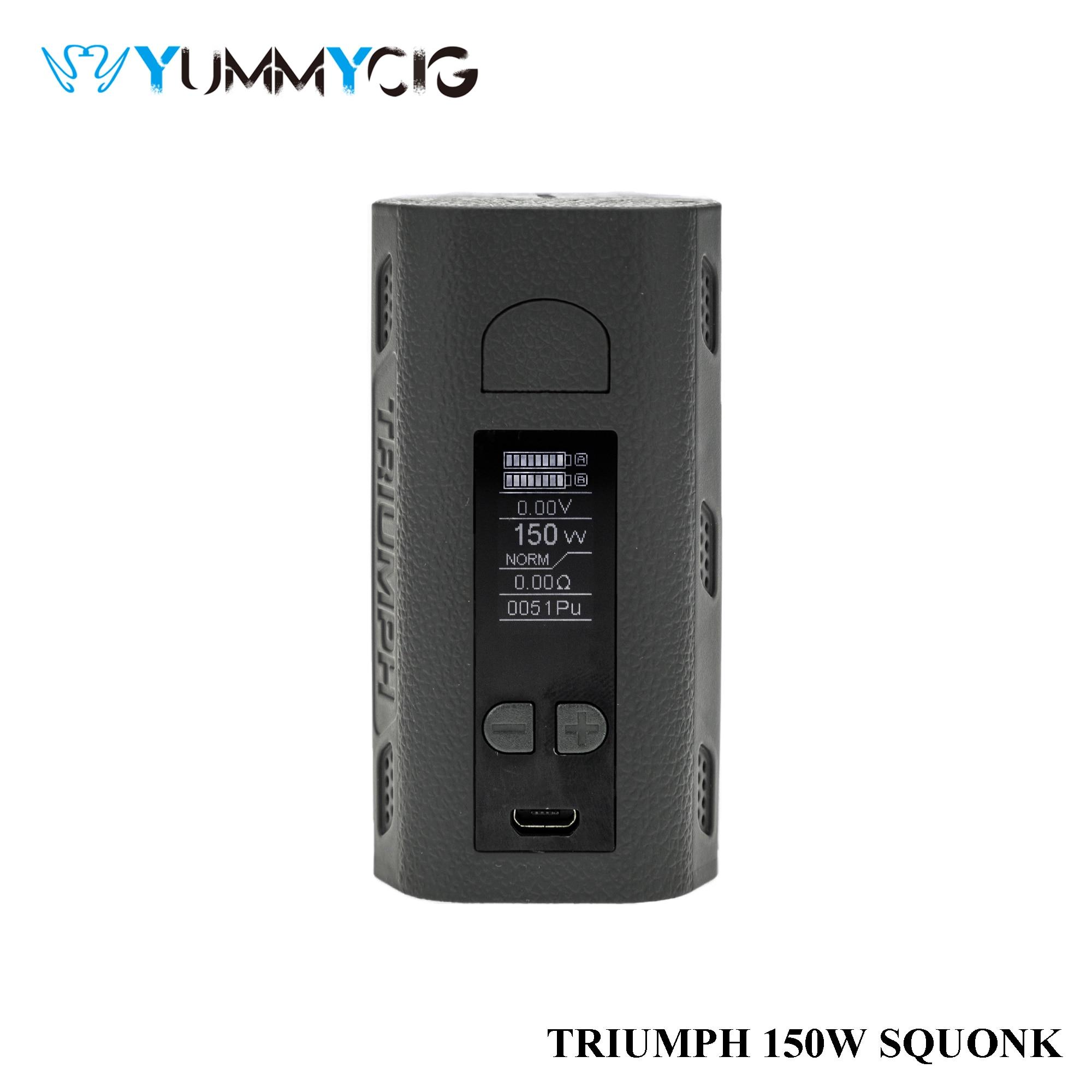 Double 18650 Batteries Triumph 150w Vapor Mod Yummycig Vape Box Squonk mod|Electronic Cigarette Kits| - AliExpress