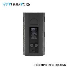 Duplo 18650 baterias triumph 150w vapor mod yummycig vape caixa squonk mod