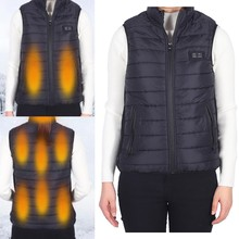 9 Areas Heated Vest Winter Warm Infrared Electric USB Smart Heating Jackets Coat Upgraded Men Women Thermal Clothing XS/S/M/L/XL