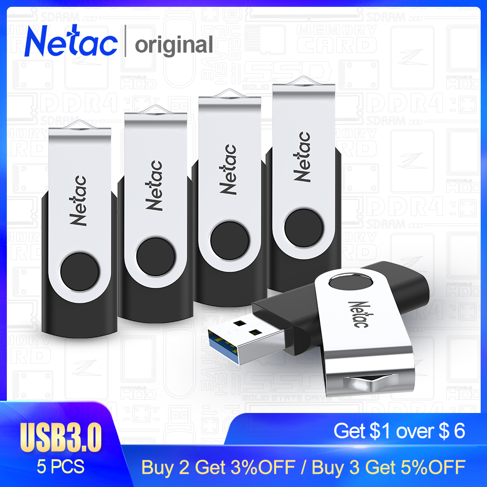 Netac USB Flash Drive Disk 8GB 16GB Pen Drive Tiny Pendrive Memory Stick Storage Device Dropship For Computer Phone 5PCS 3.0 2.0