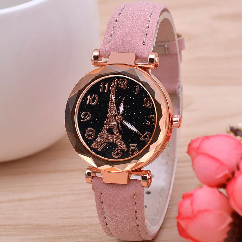 2019 Women Starry Sky Watches 2019 Best Sell Women's Bracelet Wrist Watch Casual Leather Band Ladies Quartz Clock Reloj Mujer D7