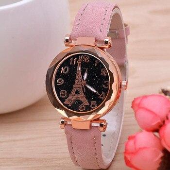 2019 Relojes De Cielo Estrellado Para Mujer 2019 Reloj De Pulsera Para Mujer De Mejor Venta Reloj De Pulsera De Cuero Casual Para Mujer Reloj De Cuarzo Reloj Mujer D7