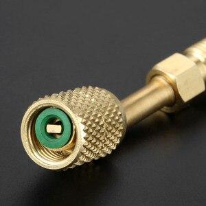 Image 5 - Adaptador giratorio R410a 1/4 macho a 5/16 hembra SAE adaptador para R410A Mini HVAC dividido para Mayitr, Conector de latón para aire acondicionado