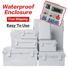 ABS Waterproof Plastic Enclosure With Hasp Electrical Distribution Box Electrical Junction Box Outdoor Sealed Switch Power Case