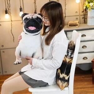 Image 4 - Simulation Funny Dog&Cat Plush Pillow Soft Cartoon Animal Pug&Persian Cat Stuffed Doll Nap Pillow Cushion Baby Kid Birthday Gift
