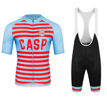 цена на new casp pro team cycling jersey summer bike cycling set bib shorts ropa ciclismo bicycle short sleeve race suit quick dry custo