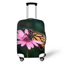 купить Butterfly Print Travel Accessories Suitcase Protective Covers 18-32 Inch Elastic Luggage Dust Cover Case Stretchable по цене 1011.49 рублей