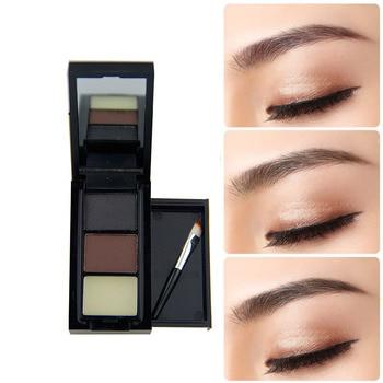 3 farbe Augenbraue Pulver Palette Kosmetik Augenbraue Enhancer Wasserdicht Dauerhafte Make Up kosmetik Lidschatten Mit Pinsel Spiegel|kit makeup|kit eyekit kits -