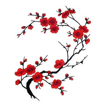 1 sztuk 27 styl kwiat śliwy kwiat aplikacja haftowana naszywka na ubrania naklejka materiałowa żelazko na szyć na poprawki akcesoria do szycia tanie i dobre opinie 31*22CM Ekologiczne Plastry Iron-on