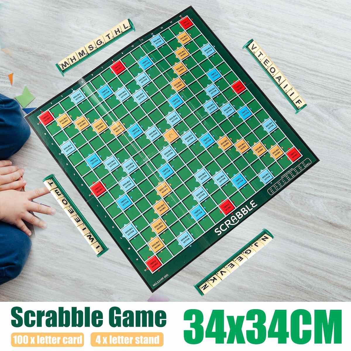 English Scrabble Board Game Crossword Spelling Game For Kids English Puzzles Board Spelling Table Jigsaw Words Teaching Aid Toys