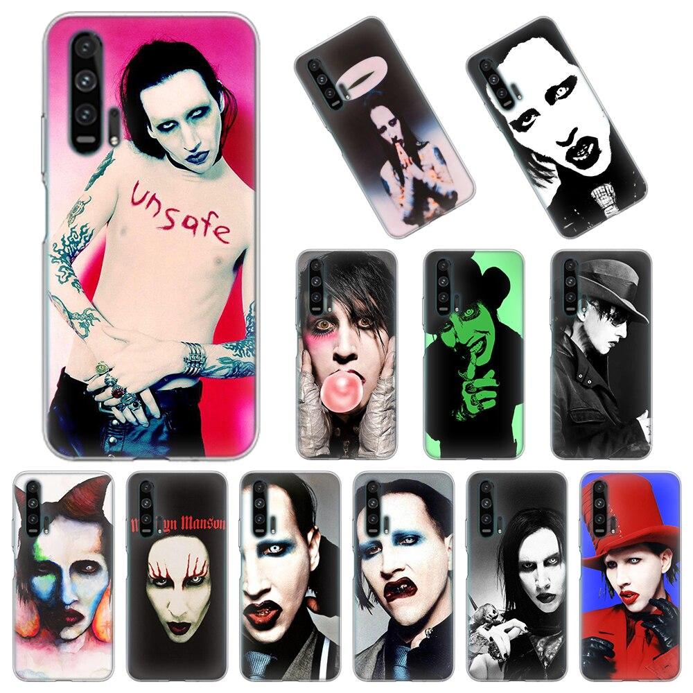 TPU Weiche Fall für Huawei Ehre 9A 9C 9S 9X Lite 8X 8A 2020 10i 20i 10 20 Lite 30 Pro 20S 30S Abdeckung UK Marilyn Manson