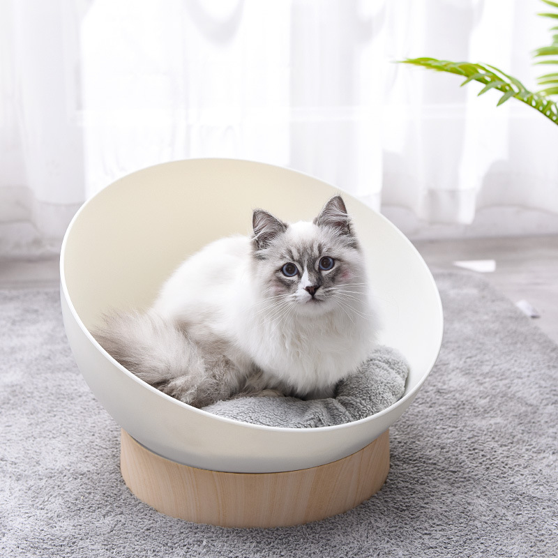New comfort spring, summer, autumn and winter open cat dog litter puppy kennel hemispherical pet bed sofa space capsule