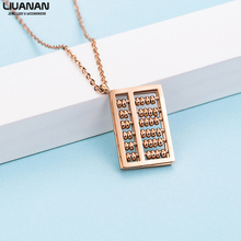 Fashion Eastern Abacus Rose Gold Plated Pendants in Stainless Steel Necklaces Women Accessories Cute Jewelry