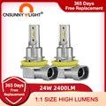 CNSUNNYLIGHT H8 H11 светодиодный HB4 9006 HB3 H9 H16 Автомобильные противотуманные фары H7 H4 лампочка фары 2400Lm 6000K белый 3200K лимонно-желтый автомобильные ламп...