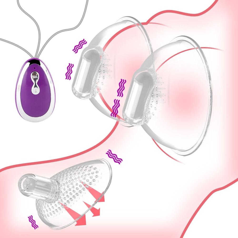 Nipple Masage Vibrator Clitoris Stimulator, Oral Sex Adult Sex Toys Breast Pump Enlargement Licking Nipple Vibrator For Women