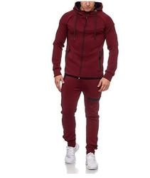 Heren Sport Pak Effen Kleur Rits Decoraties Casual Wear Jeugd Trend Slim Fit Tweedelige Set Men's Dragen K116