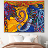 Boho Mandala Tapestry Animal Witchcraft Tapestri Hippie Dormitory Decoration Psychedelic Wall Tapestry Bedroom Wall Cloth
