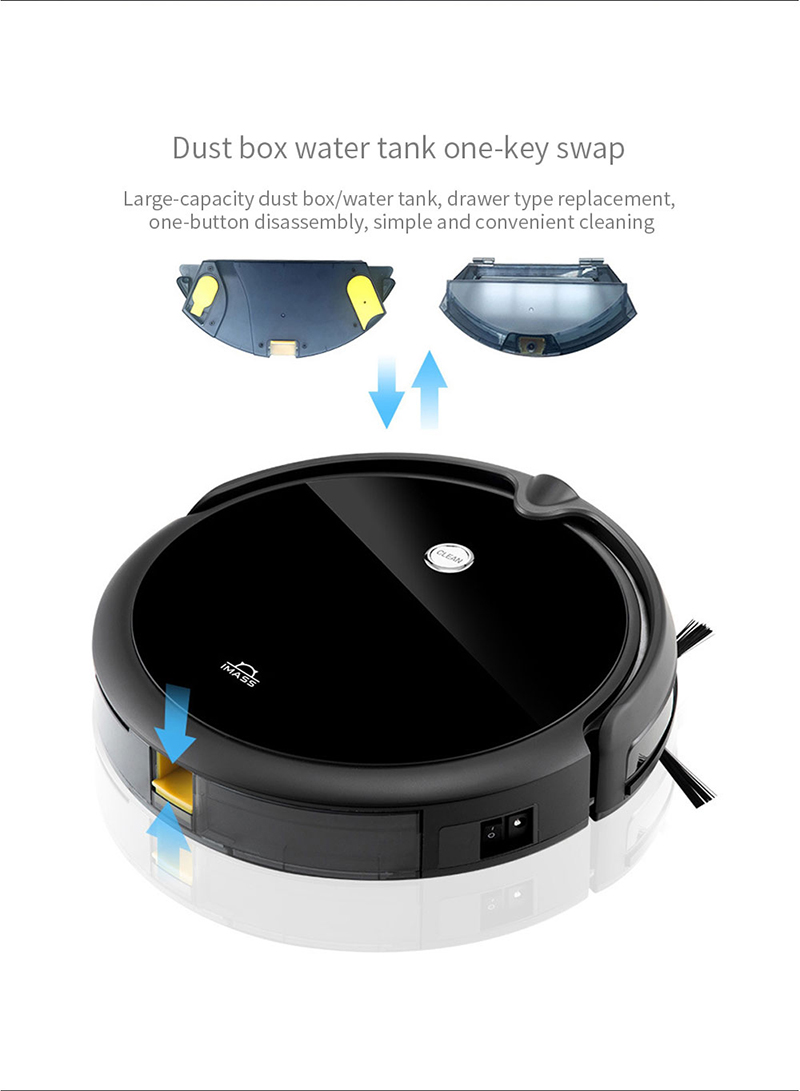 Hc672aaa761134e07acdb184644749136K IMASS A3S Robot Vacuum Cleaner Powerful Suction For Camera Navigation Various Cleaning Mode With APP Control Auto Charge Mopping