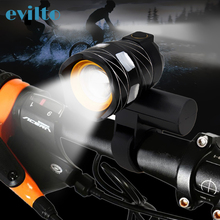 T6 15000LM Led Bicycle Light USB Rechargeable Lamp Zoomable Front Bike Headlight Lamp Adjustable Bicycle Light usb rechargeable 15000lm xml t6 led bike front light bicycle headlamp headlight