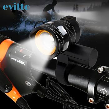 T6 15000LM Led Bicycle Light USB Rechargeable Lamp Zoomable Front Bike Headlight Lamp Adjustable Bicycle Light rechargeable 12000mah battery 60000lm 16x xml t6 led 3modes bicycle light led bike front light headlight lamp bike accessories