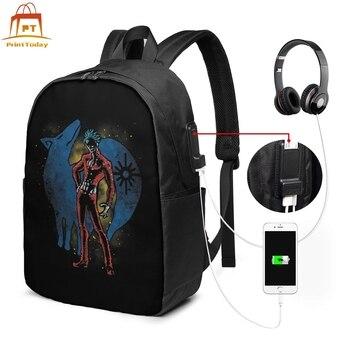 цена на Seven Deadly Sins Nanatsu Backpack Seven Deadly Sins Nanatsu Backpacks Pattern Multi Function Bag Trendy Bags
