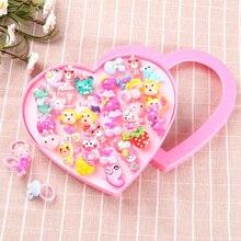 Каваи красочные мини мультфильм пластиковые кольца Пальцы для девочек Дети ролевые игры красота и Мода игрушки День рождения подарки